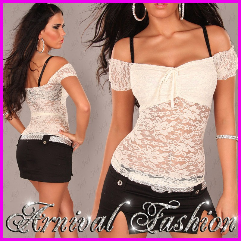 NEW SEXY SUMMER TOPS FOR LADIES WEAR WOMENS CASUAL BLOUSES LACE SHIRTS FOR WOMEN