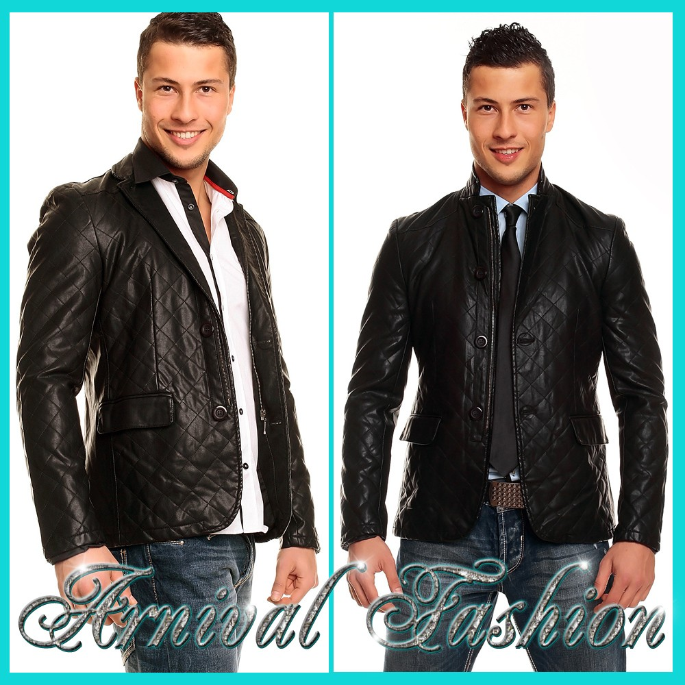 NEW MENS BLACK LEATHER JACKETS FOR MEN ONLINE MEN'S CASUAL JACKET