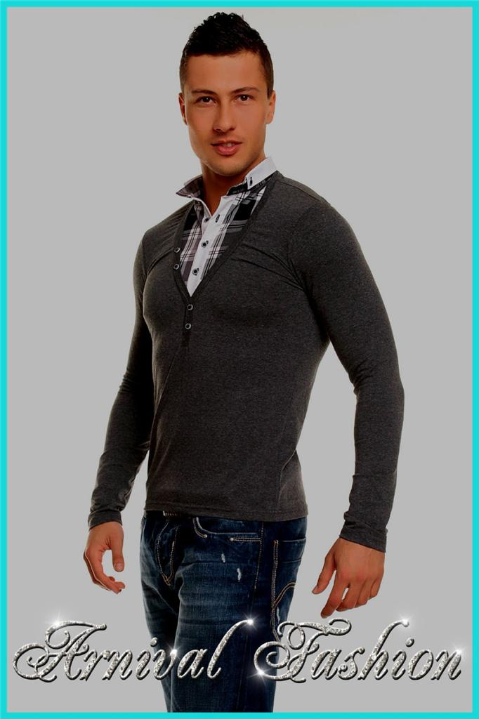 NEW MEN'S LONG SLEEVE SHIRTS FOR MEN FORMAL FASHION ...