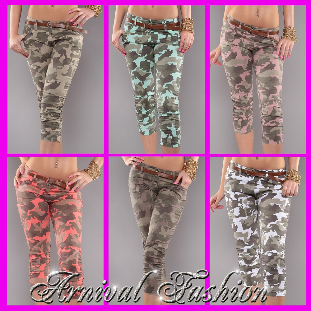Woodland Camo Booty Camp Sweatpants (Army Navy Clothing / Wo