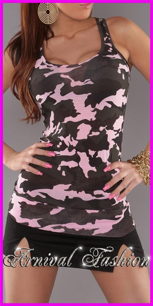 NEW-SLEEVELESS-CAMO-TOPS-for-WOMEN-8-10-12-PRINT-SHIRTS-for-LADIES-SINGLET-S-M-L