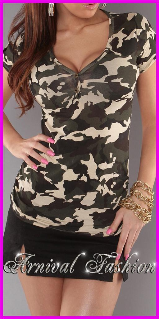 NEW-short-sleeve-CAMO-TOPS-for-WOMEN-8-10-12-PRINT-SHIRTS-LADIES-T-SHIRT-S-M-L