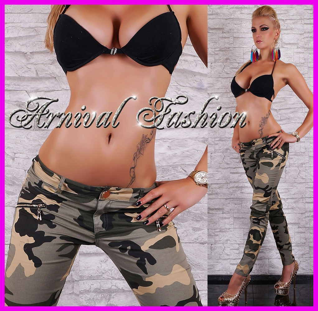 NEW-skinny-CAMO-PANTS-womens-MILITARY-WEAR-ladies-CAMO-JEANS-ARMY-JEAN