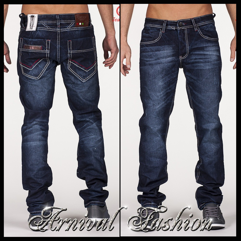 new mens dark blue jeans for men jean pants denim wear