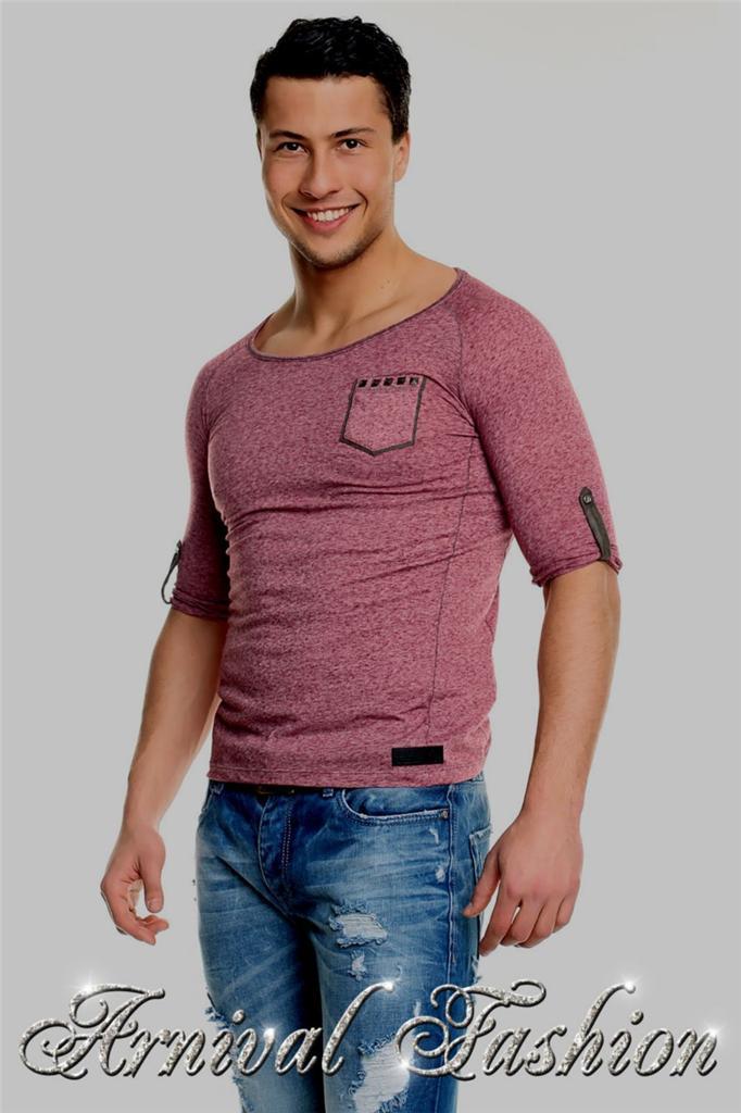 NEW MENS 3/4 SLEEVE SHIRTS MEN CASUAL FASHION streetwear CLOTHES MEN'S SHIRT TOP