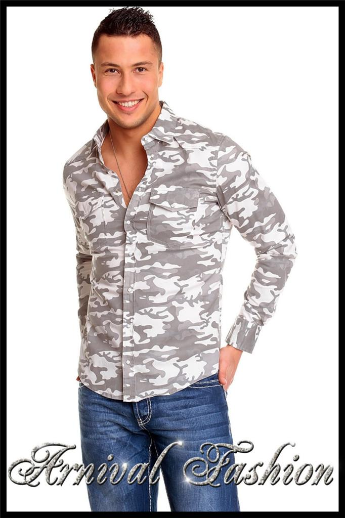 NEW MENS Camo SHIRTS For MEN Military WEAR CLOTHING MENu0026#39;S ARMY FASHION Shirt TOP | EBay