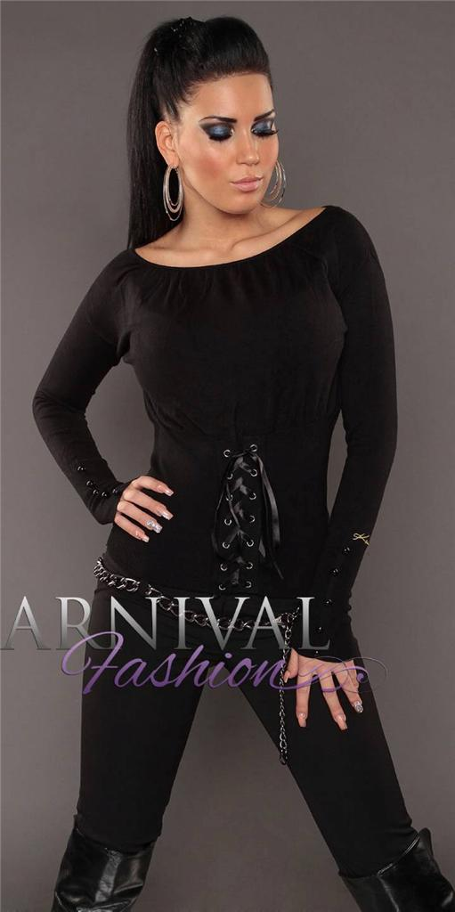 NEW SEXY laced JUMPER size 6 8 10 12 SWEATERS for women CASUAL CLOTHES XS S M L