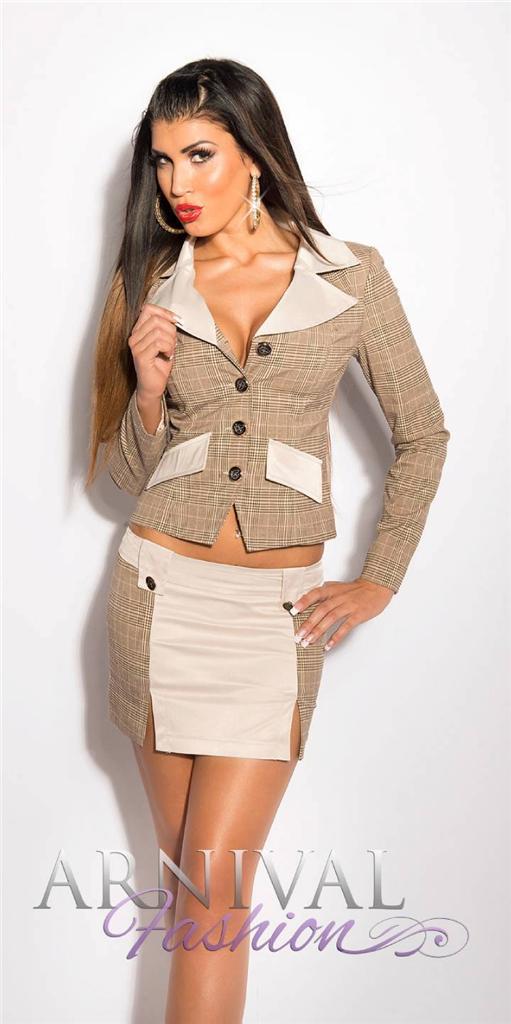 WOMEN-SHORT-SKIRT-SUIT-SET-10-12-14-BUSINESS-BLAZER-TOP-COAT-JACKET-XS-S-M-L-XL