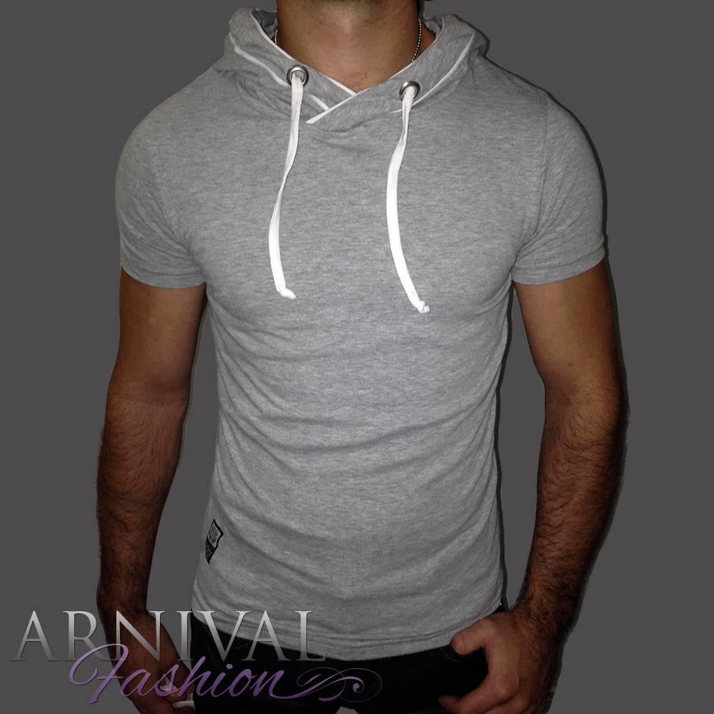 New men 39 s hoodie shirts for men casual wear mens short for Short sleeved shirts for men