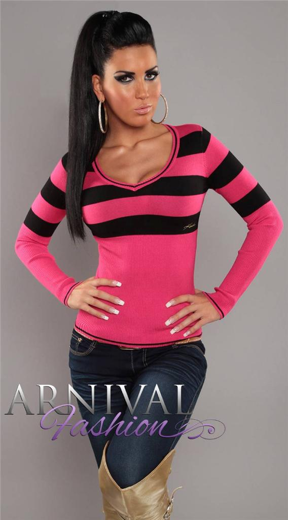 NEW SEXY V NECK JUMPER 6 8 10 12 SWEATERS for LADIES CASUAL CLOTHING XS S M L