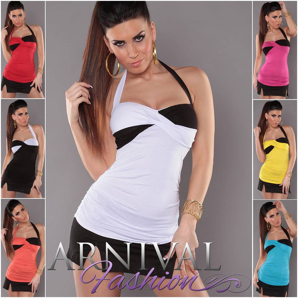NEW-SEXY-WOMENS-FASHION-padded-halter-top-LADIES-CASUAL-SHIRTS