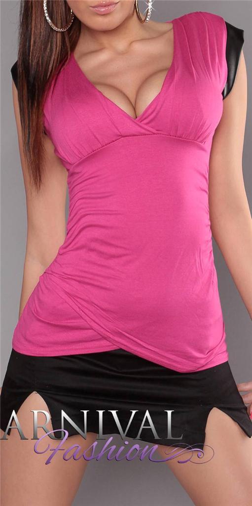 NEW-SEXY-WOMENS-FASHION-TOP-wrap-shirt-LADIES-CASUAL-SHIRTS-CLUBWEAR