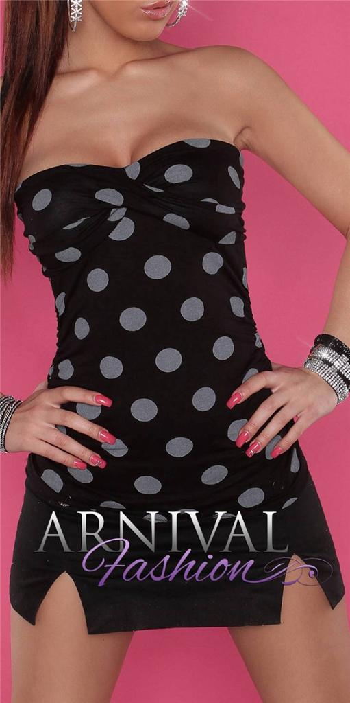 SEXY-PADDED-POLKA-DOT-TOPS-womens-SLEEVELESS-CASUAL-SHIRT-BLOUSE-off-shoulder-AU