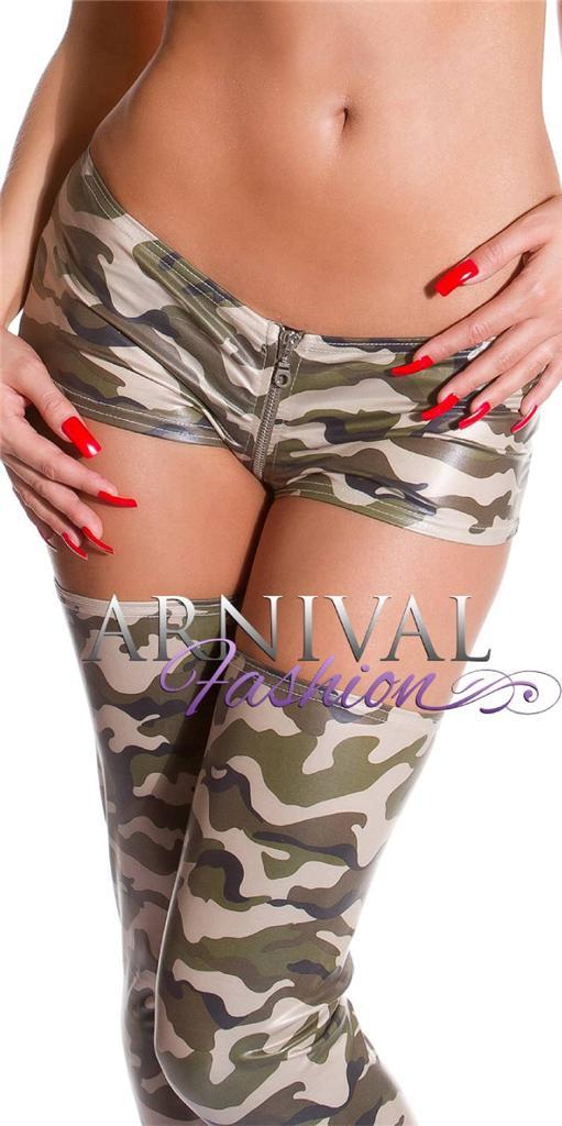 NEW SEXY LADIES CLUB DANCE WEAR XS S M L WOMENS MICRO MINI SHORTS camo HOT PANTS