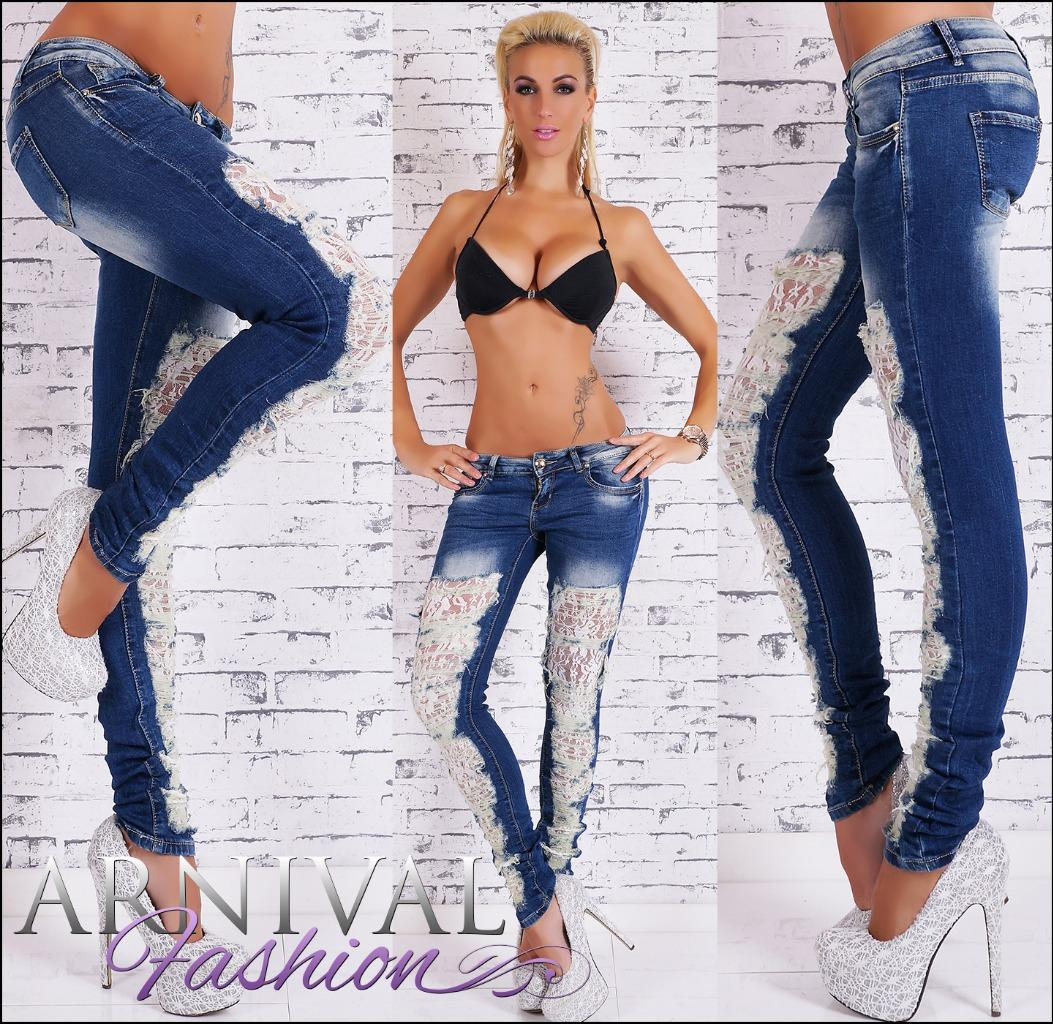 NEW SEXY LADIES RIPPED JEANS 6 8 10 12 14 WOMEN&amp039S DESTROYED