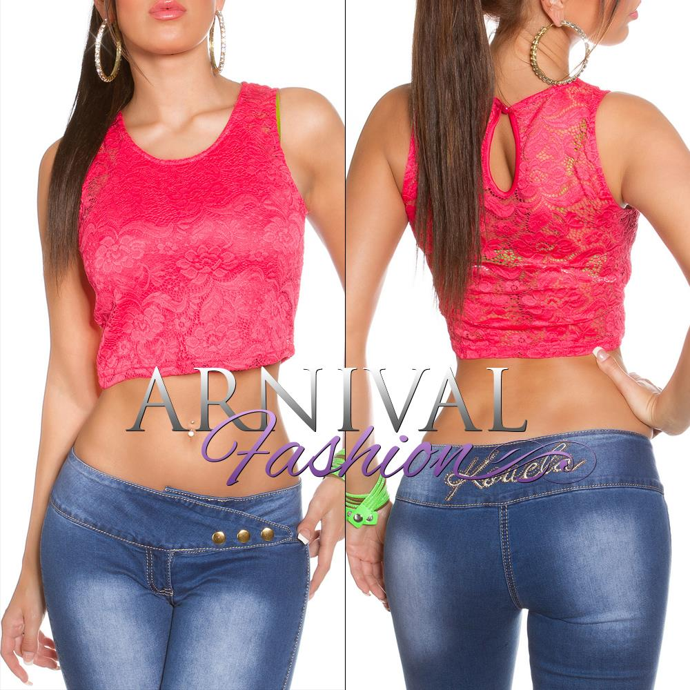SEXY-SLEEVELESS-CROP-TANK-TOP-S-WOMENS-LACE-SHIRT-summer-blouse-CASUAL-FLORAL-AU