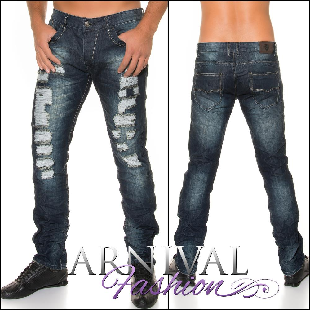 New Destroyed Jeans For Men Casual Wear Men 39 S Jean Pants Mens Fashion Clothing Ebay