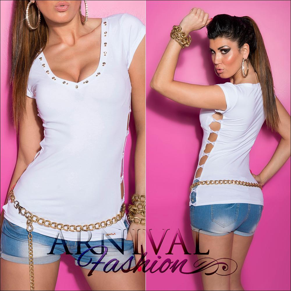 SEXY-WOMENS-CASUAL-T-SHIRT-v-TOPS-XS-S-M-SHORT-SLEEVE-BLOUSE-SLIM-TOP-AU-6-8-10
