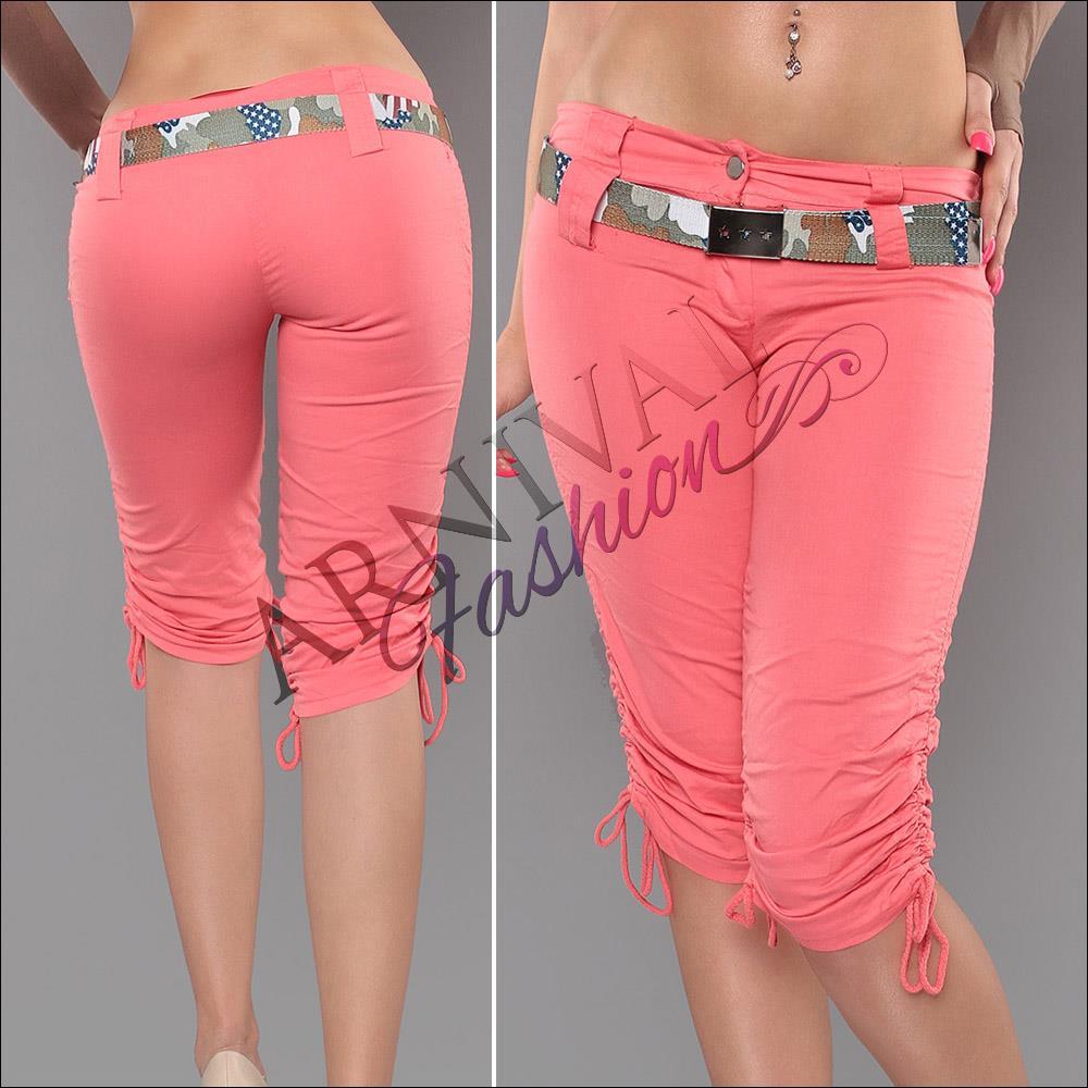 casual crop pants shorts ladies 34 women stretch short