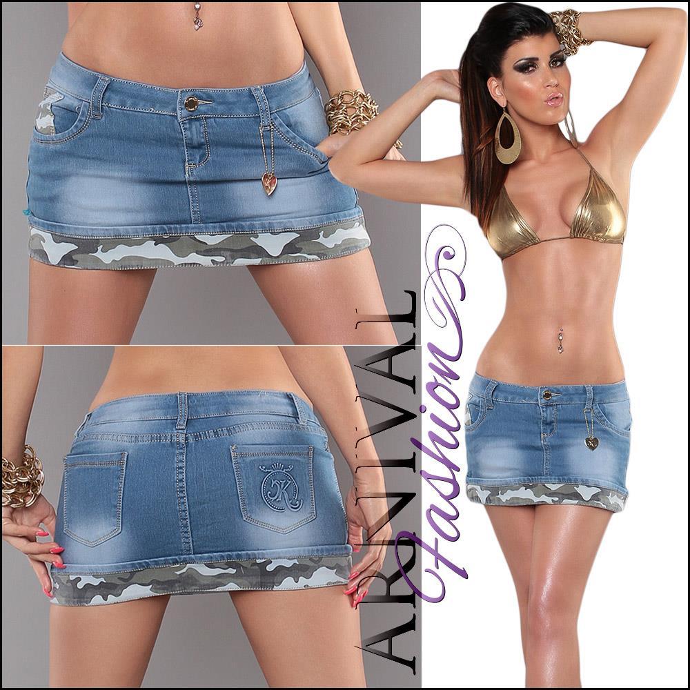 NEW SEXY denim mini skirt XS S M L shop online CLUBBING CASUAL WEAR jeans shirts | eBay