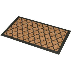 Large Door Mat Indoor Outdoor Coir Amp Rubber Natural