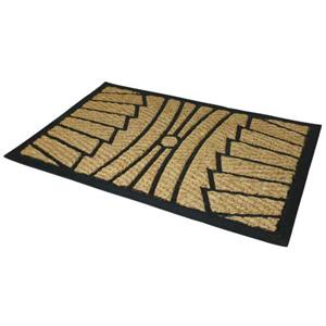 large woven contemporary door mat indoor outdoor use coir rubber