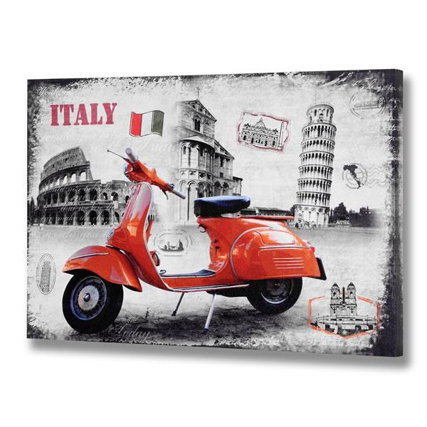 Italy Wall Art london blue vespa scooter,italy red canvas picture wall art print