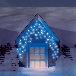 christmas outdoor snowing led icicle lights 180 to 900 ice. Black Bedroom Furniture Sets. Home Design Ideas