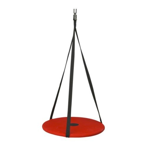 ikea sv va children kids swing hanging seat hooks set toys play black red new ebay. Black Bedroom Furniture Sets. Home Design Ideas