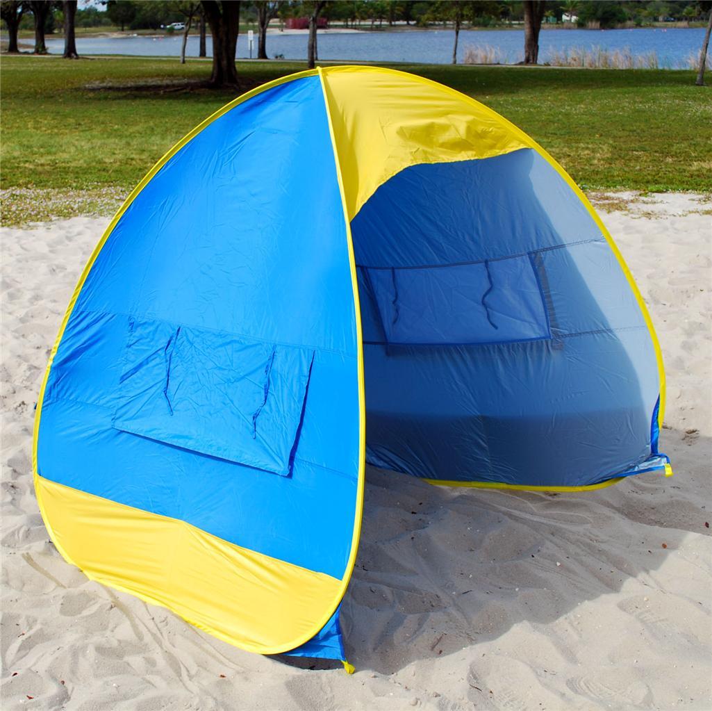 Pop Up Sun Shelter For Beach : New pop up beach tent cabana sun shade shelter picnic ebay