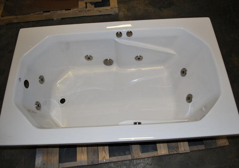 3660 DROP IN WHIRLPOOL JETTED BATH TUB 8 WATER JETS WHITE BATHTUB EBay