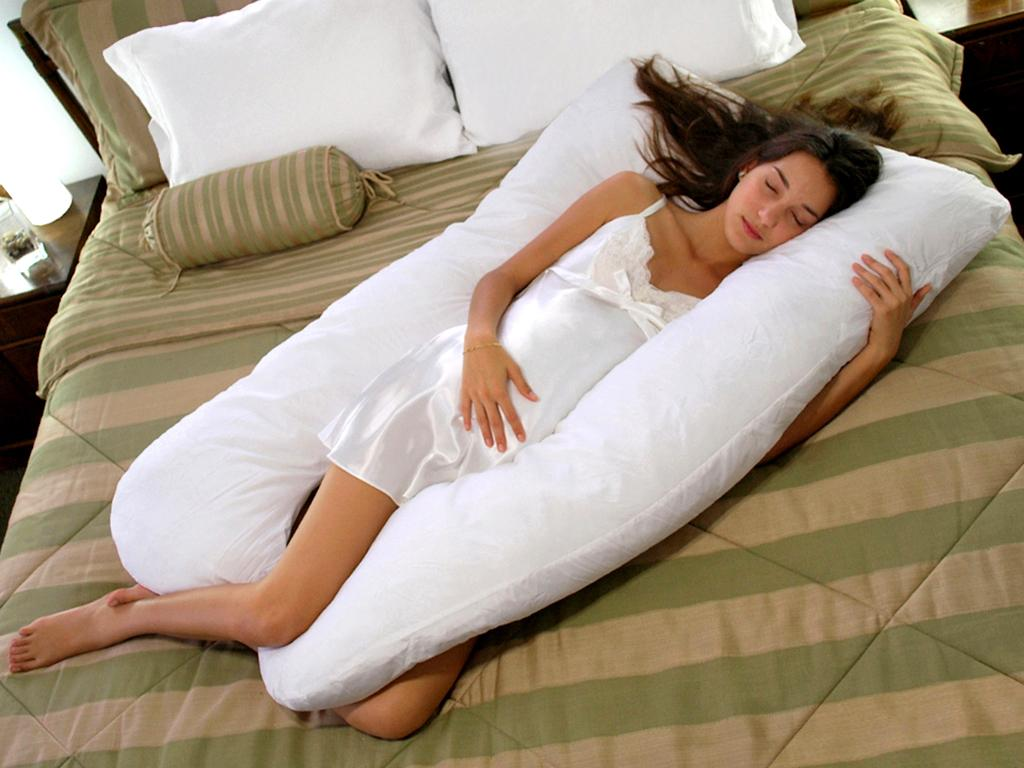 maternity pregnancy body pillow u shaped white