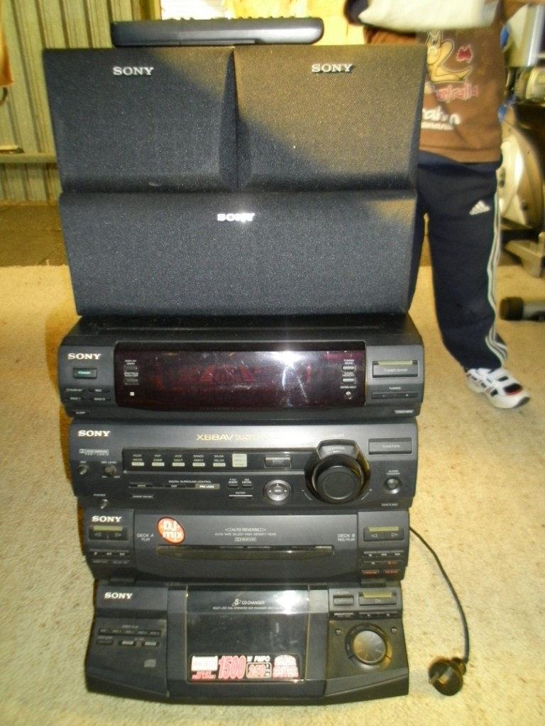sony surround sound system hifi stereo cd player xb8av ebay. Black Bedroom Furniture Sets. Home Design Ideas