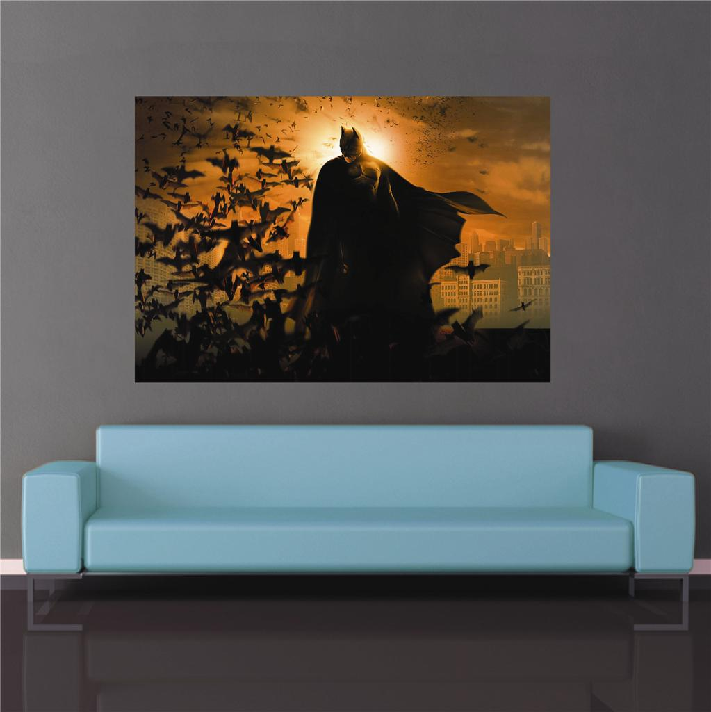 The dark knight rises a1 a2 poster wall art batman movie for Dark knight rises wall mural