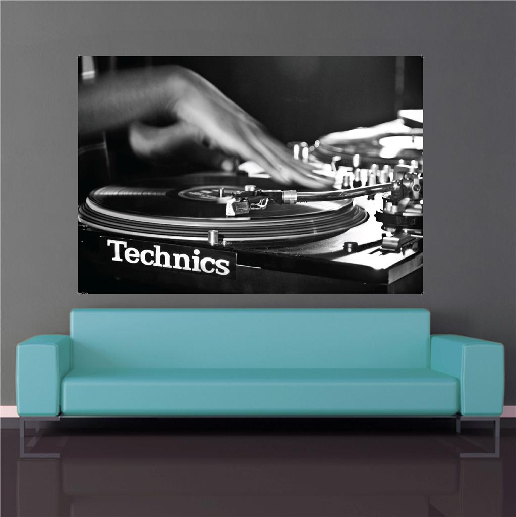 Decks dj Art Technics Decks dj Poster Rave