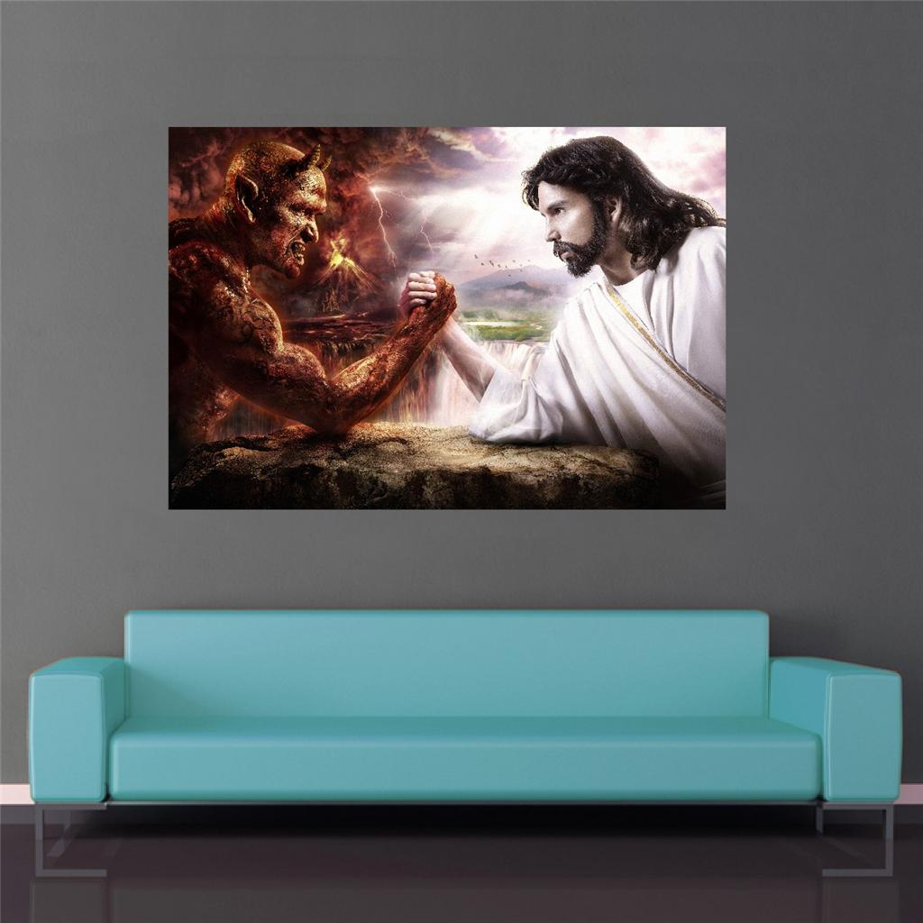 Satan Vs God Wallpaper Image is loadi... satan vs god