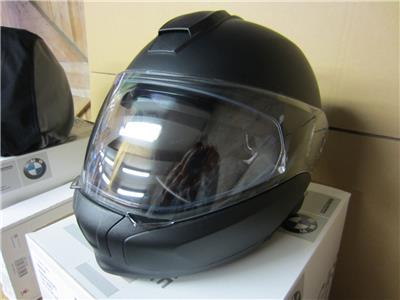 bmw 2 x system 6 evo motorbike helmet in black mat white. Black Bedroom Furniture Sets. Home Design Ideas