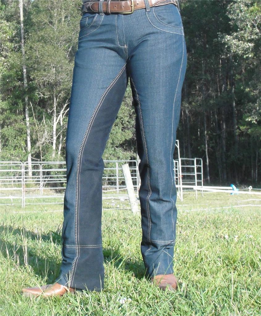 Jodhpurs bootcut riding Pants Denim Jeans Westernstyle ...