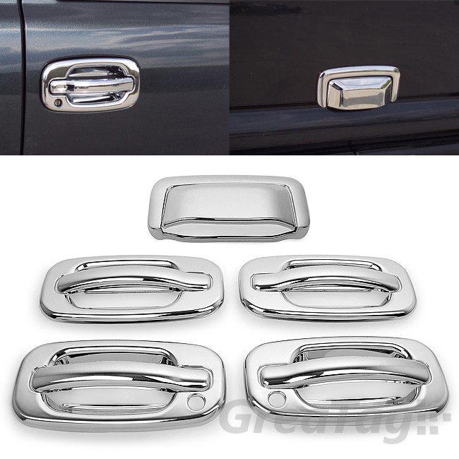 For 01 06 Chevy Tahoe Suburban Gmc Yukon Chrome Door Handle Tailgate Cover Trim Ebay