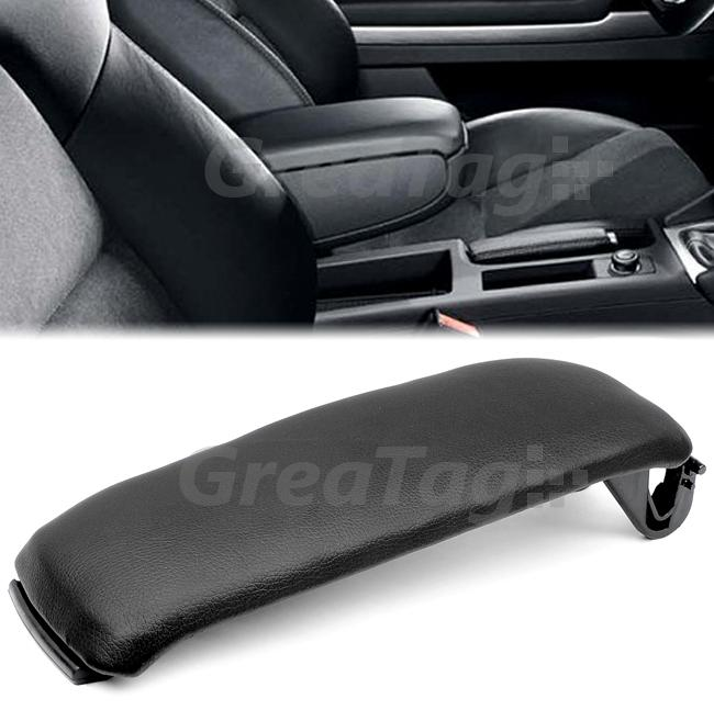 2000 2006 Audi A4 A6 S4 Leatherette Center Console Armrest Cover Black