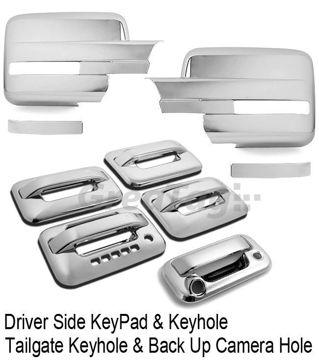 09 12 Ford F150 Truck Chrome Door Handle Tailgate Mirror Cover Moulding Trim