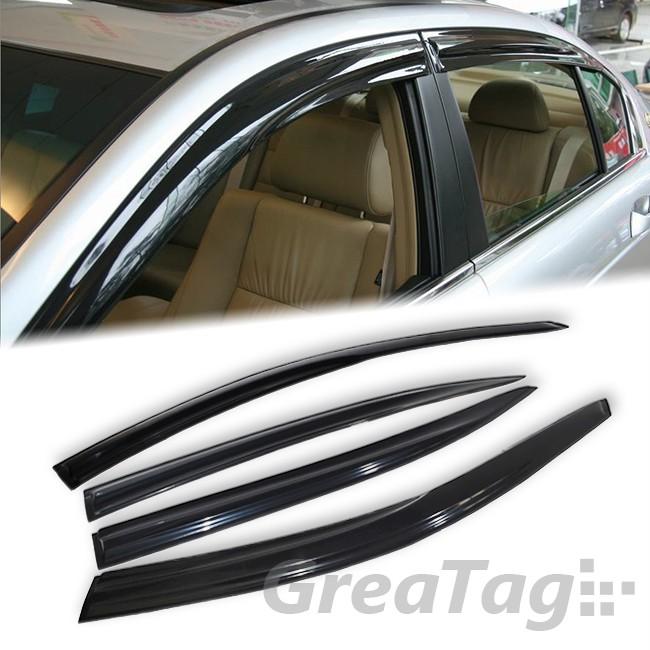 08 12 Honda Accord Sedan 4DR Window Visor Vent Guard Shade Deflector Smoke Black