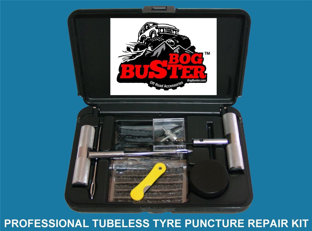 bogbuster tubeless tyre puncture repair kit car 4x4 4wd. Black Bedroom Furniture Sets. Home Design Ideas
