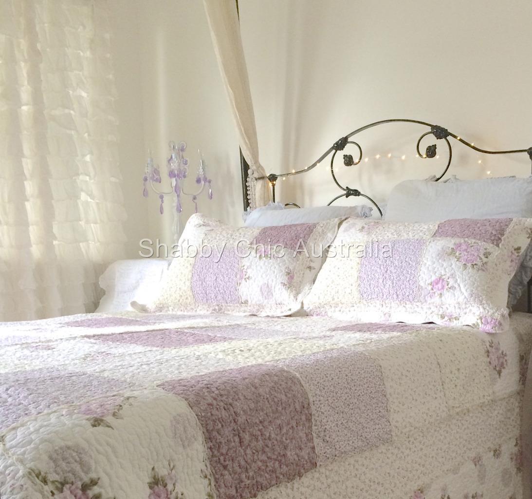 Lavender Gingham King Bedding