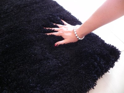Black Shaggy Floor Rug Soft Plush Fluffy Rugs Carpet 70