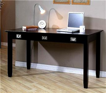 Espresso Modern Computer Writing Accent Desk Home Office Furniture