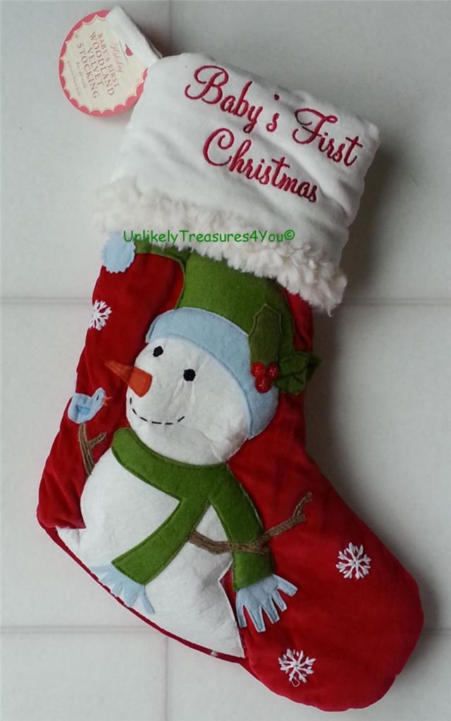 Pottery Barn Kids Woodland Baby S First Christmas Velvet