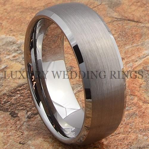 Tungsten Ring Men's Wedding Band Matte Titanium Color Infinity Jewelry Size 6-13 in Jewelry & Watches, Men's Jewelry, Rings | eBay