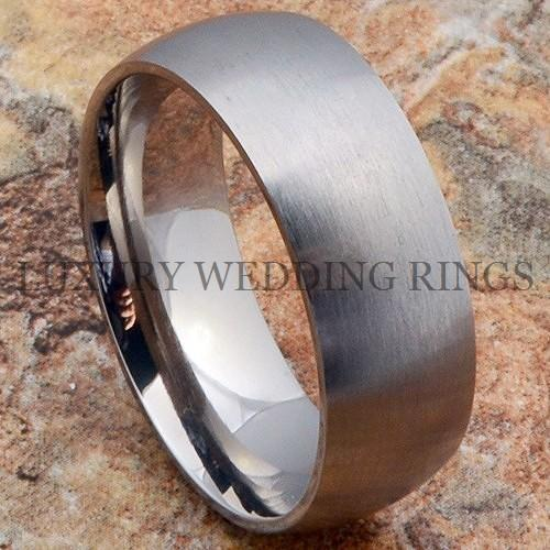 Men 39s Titanium Ring Bridal Wedding Band Brushed Jewelry Anniversary Size