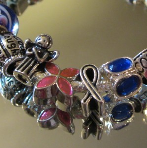 Authentic pandora bracelet with 925 beads amp charms quot loving nurse rn